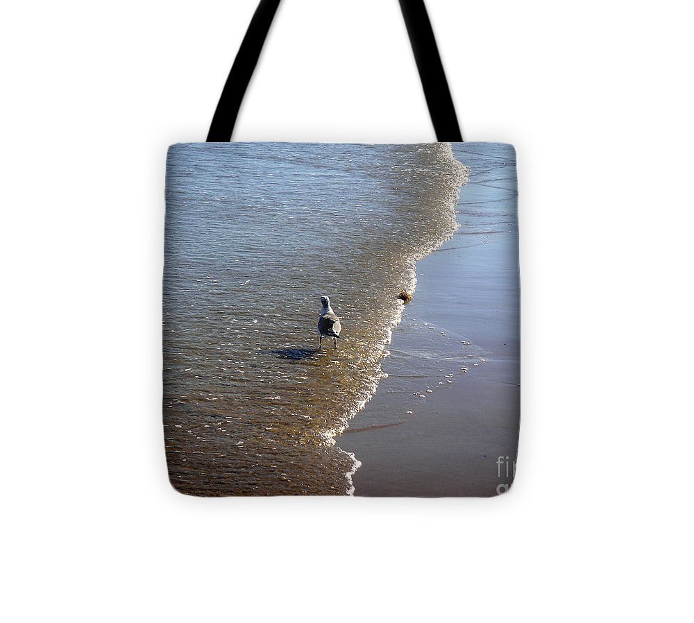 Nature Tote Bag featuring the photograph Being One With The Gulf - Ahead by Lucyna A M Green