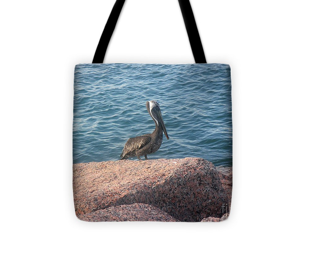 Nature Tote Bag featuring the photograph Being One With The Gulf - Anticipating by Lucyna A M Green