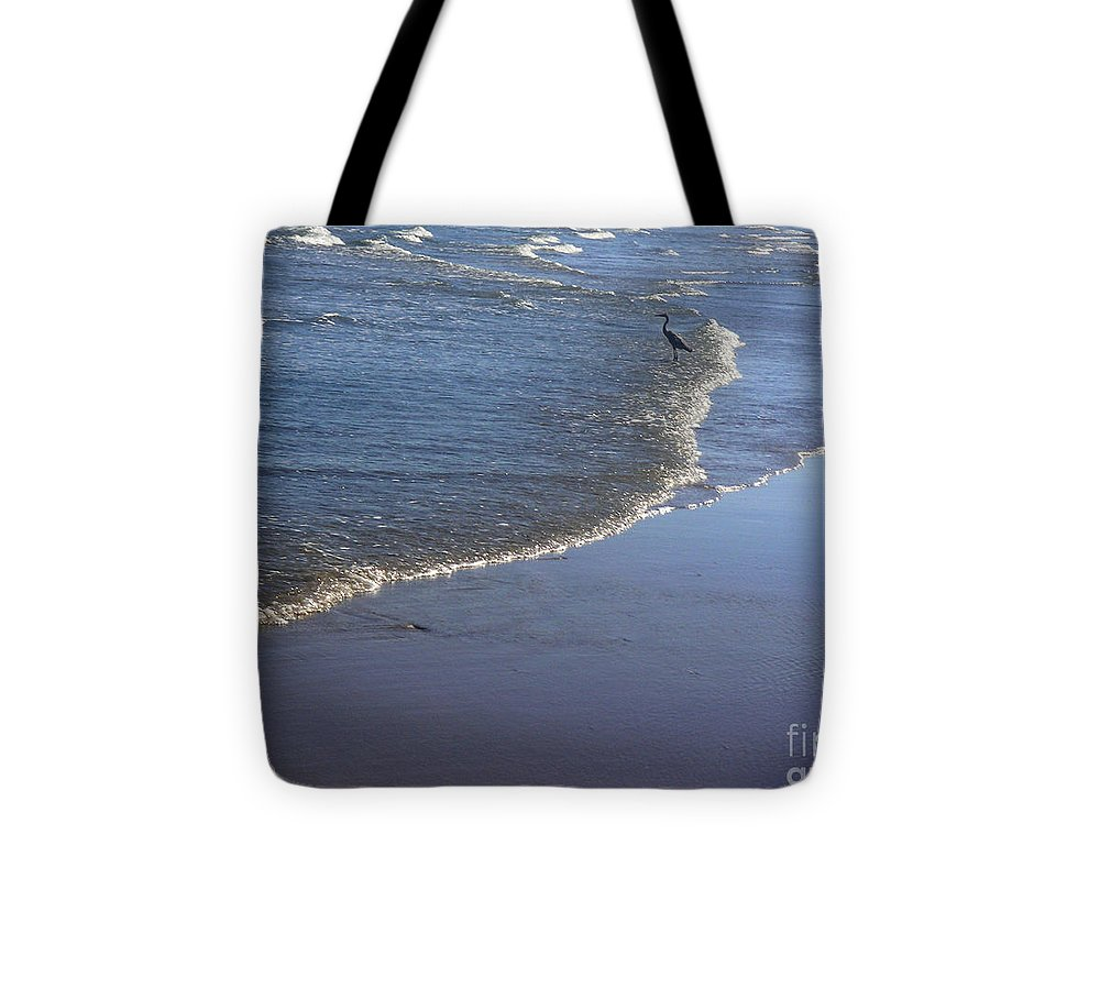 Nature Tote Bag featuring the photograph Being One With The Gulf - At Peace by Lucyna A M Green