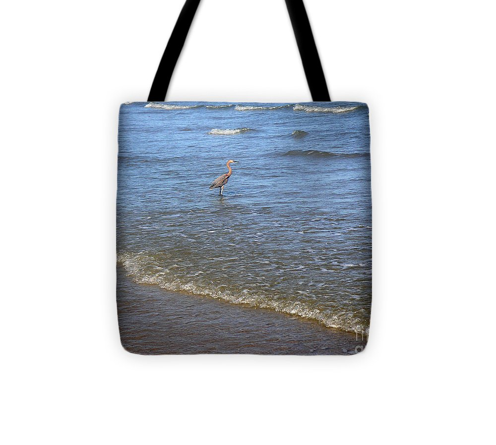 Nature Tote Bag featuring the photograph Being One With The Gulf - Detached by Lucyna A M Green