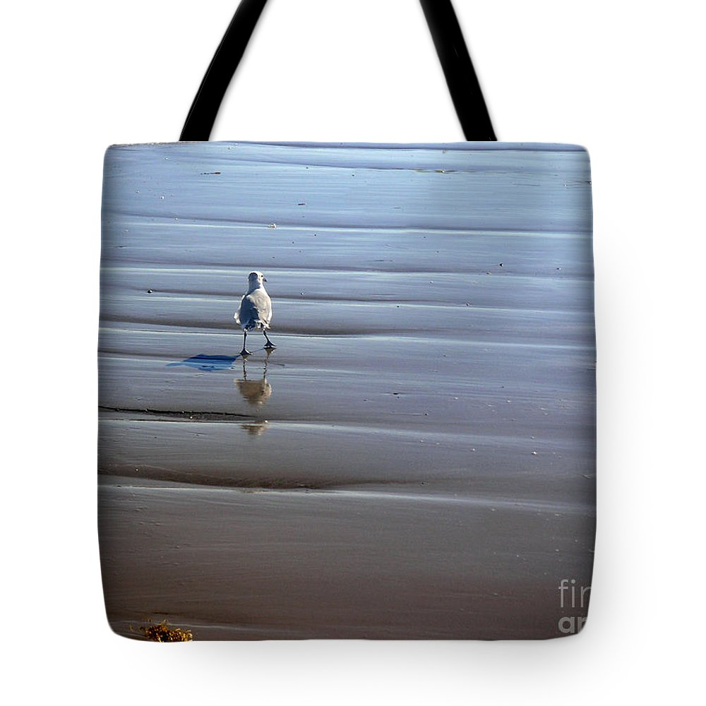 Nature Tote Bag featuring the photograph Being One With The Gulf - Escaping by Lucyna A M Green