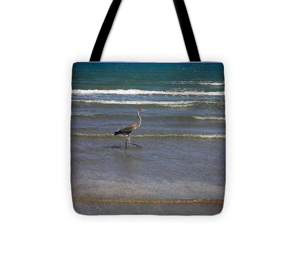 Nature Tote Bag featuring the photograph Being One With The Gulf - In Step by Lucyna A M Green