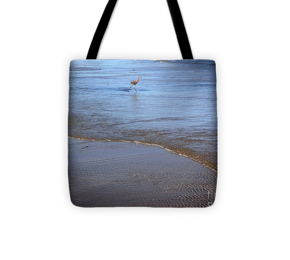 Nature Tote Bag featuring the photograph Being One With The Gulf - Playing by Lucyna A M Green