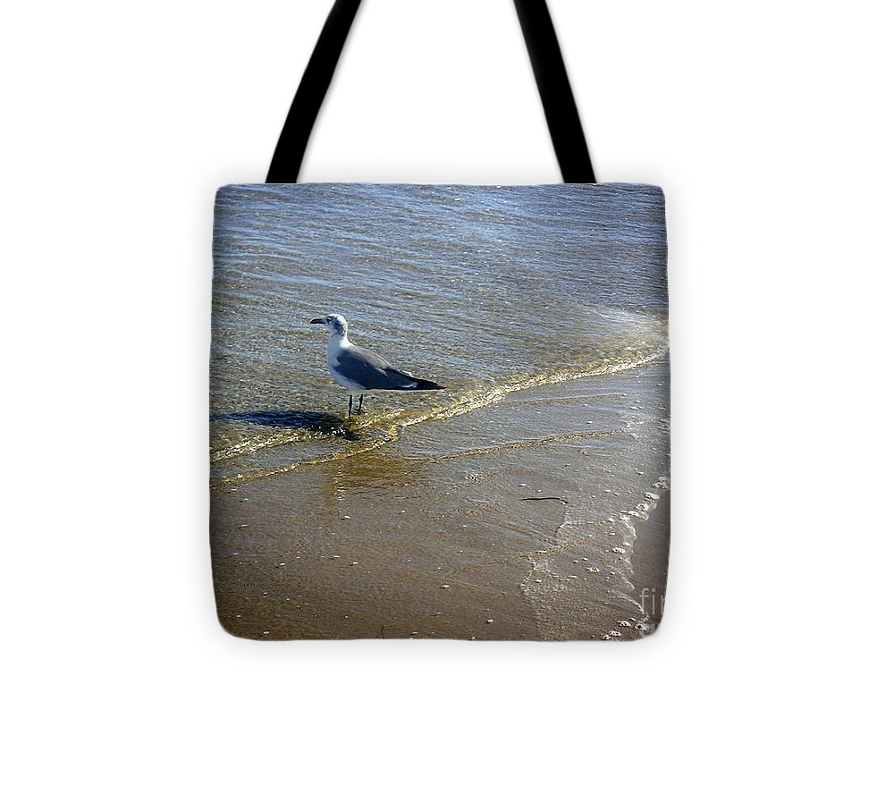 Nature Tote Bag featuring the photograph Being One With The Gulf - Reflecting by Lucyna A M Green