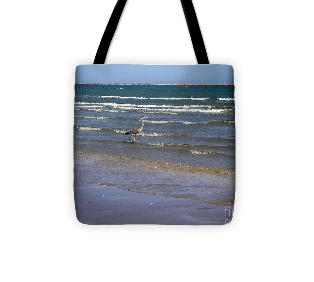 Nature Tote Bag featuring the photograph Being One With The Gulf - Wading by Lucyna A M Green