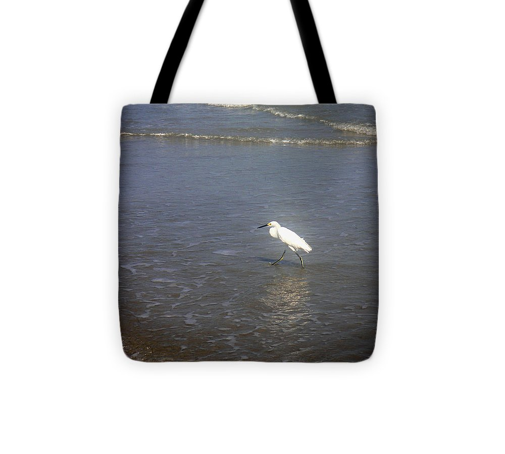 Nature Tote Bag featuring the photograph Being One With The Gulf - Wary by Lucyna A M Green