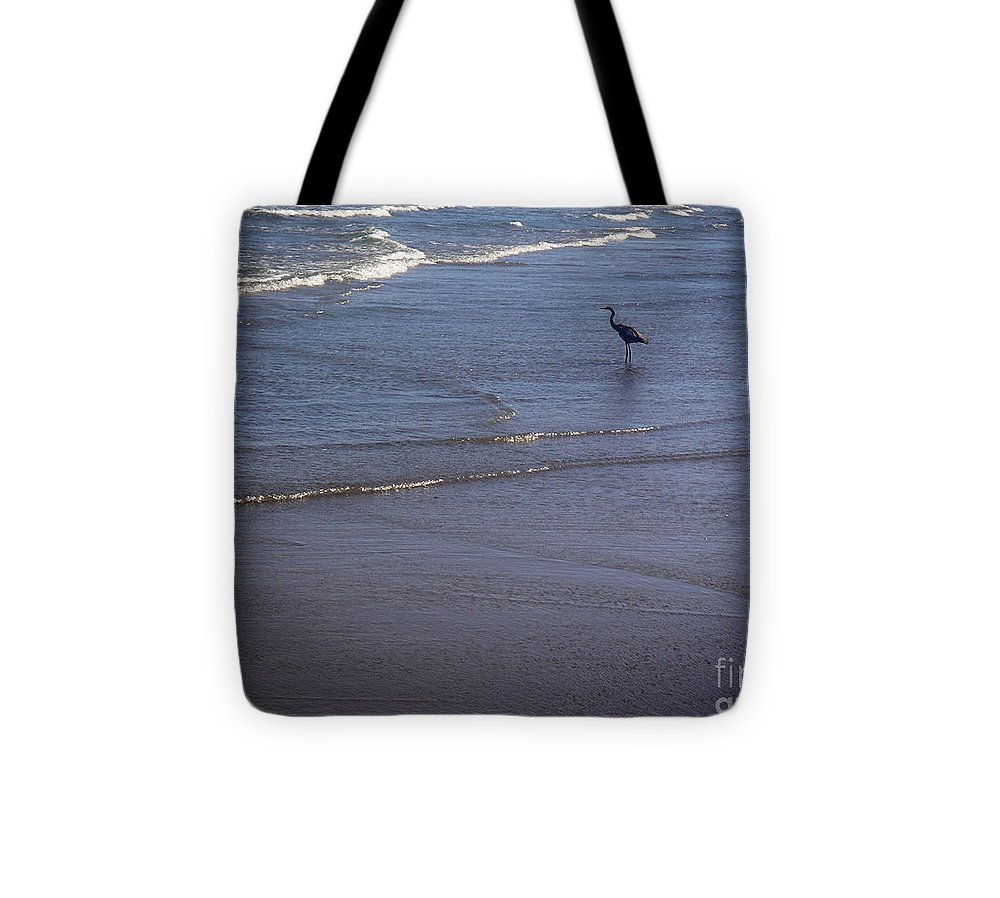 Nature Tote Bag featuring the photograph Being One With The Gulf - Watching by Lucyna A M Green