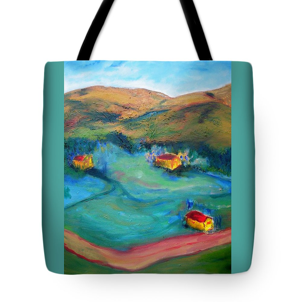 Landscape Tote Bag featuring the painting Beit Shemesh by Suzanne Udell Levinger