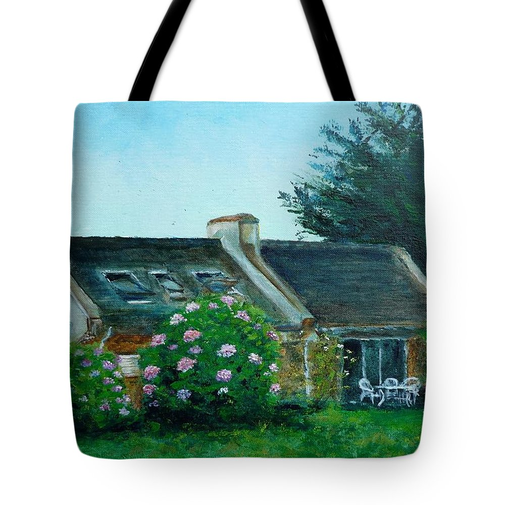 Bretagne Tote Bag featuring the painting Bel-ile-en-mer by Lizzy Forrester
