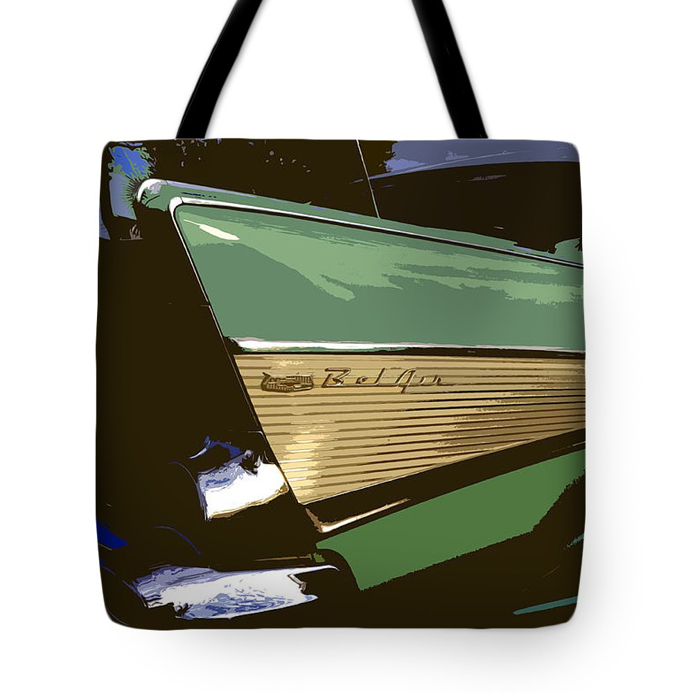 Chevy Tote Bag featuring the painting Belair by David Lee Thompson