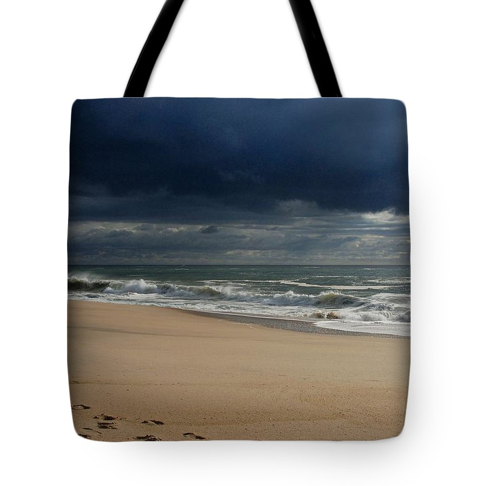 Jersey Shore Tote Bag featuring the photograph Believe - Jersey Shore by Angie Tirado