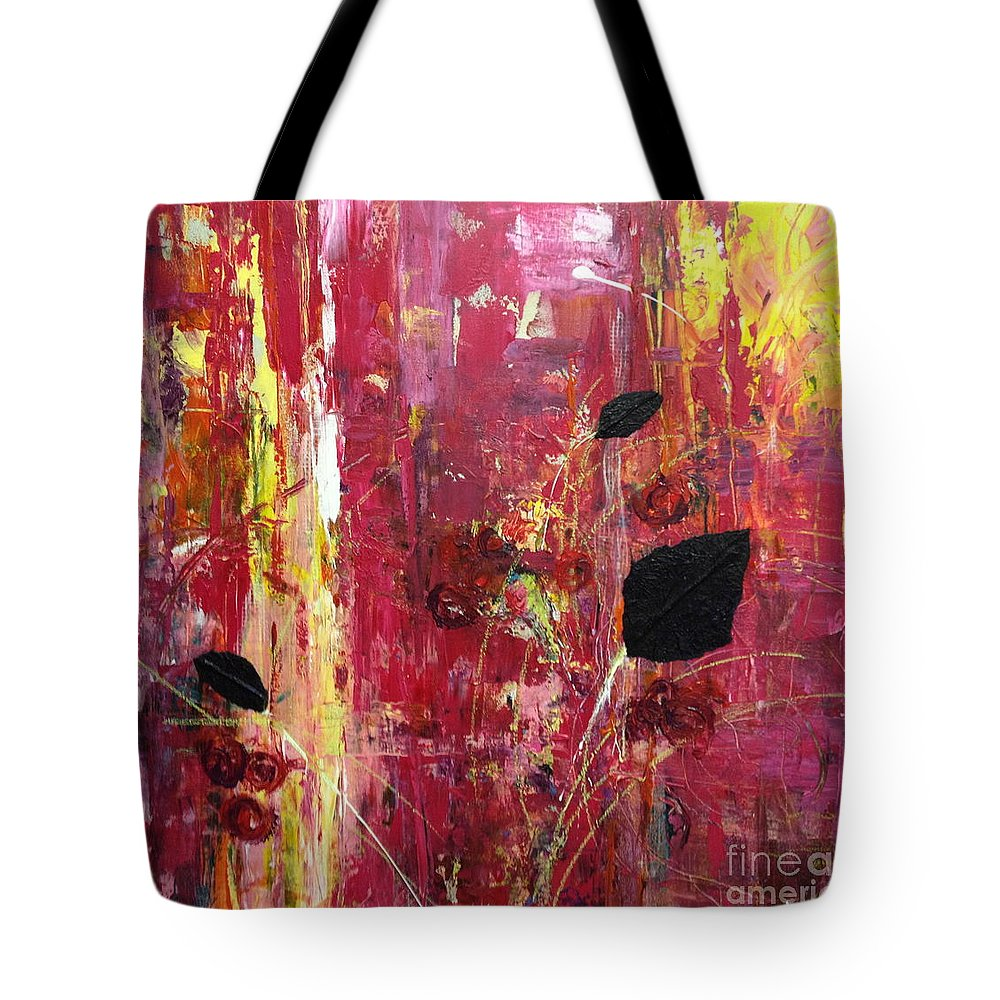 Landscape Tote Bag featuring the mixed media Believe by Gail Butters Cohen