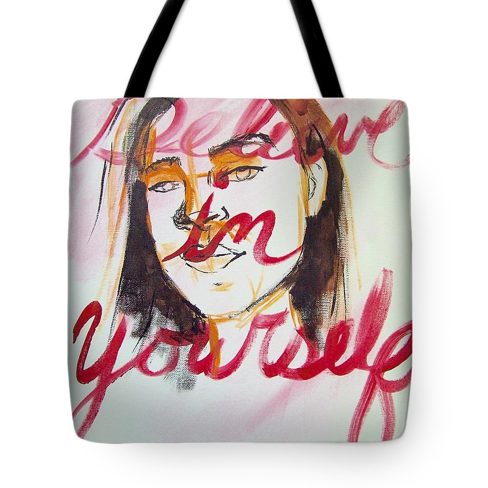 Portrait Tote Bag featuring the painting Believe In Yourself by Angela Hendricks