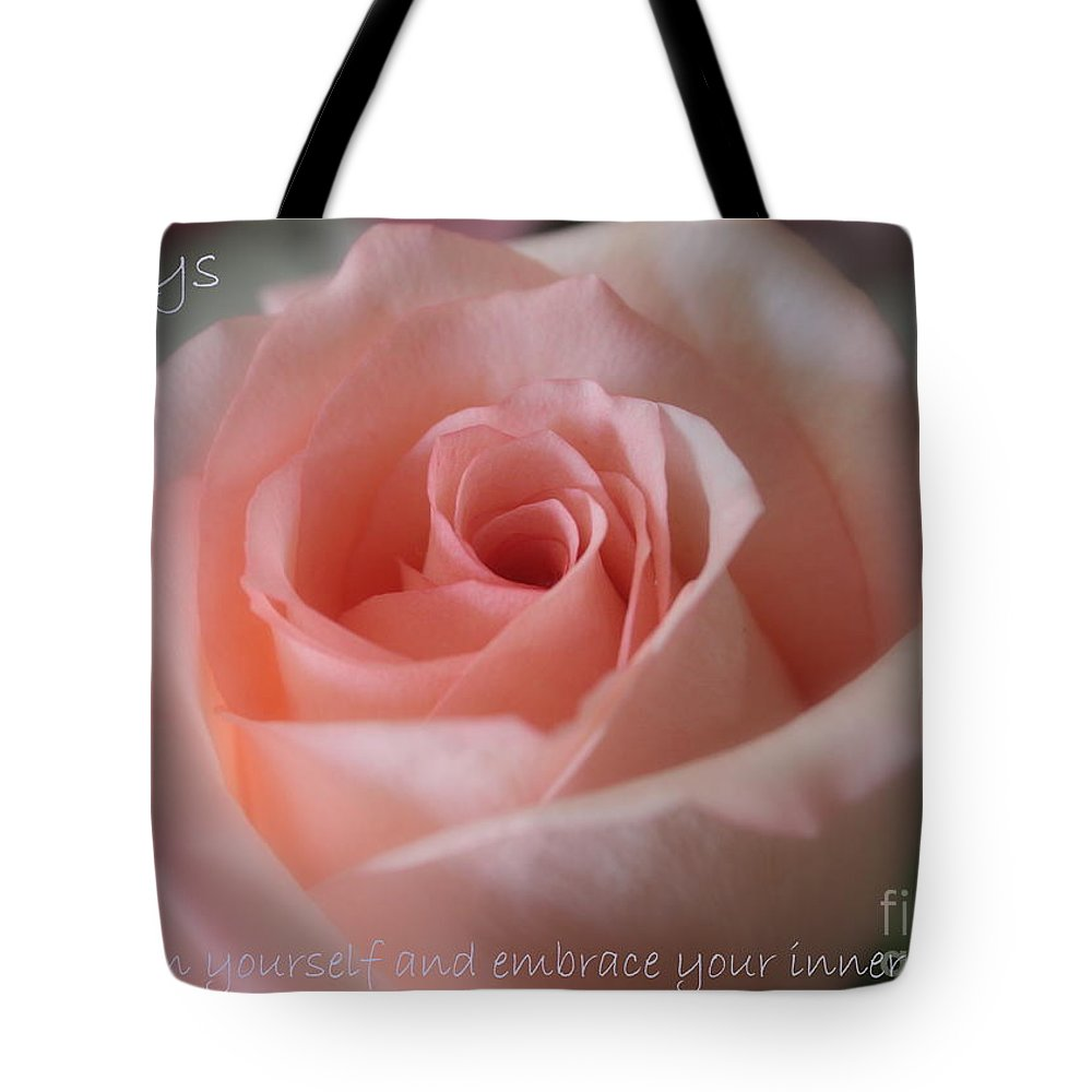 Inner Beauty Tote Bag featuring the photograph Believe In Yourself Card Or Poster by Carol Groenen