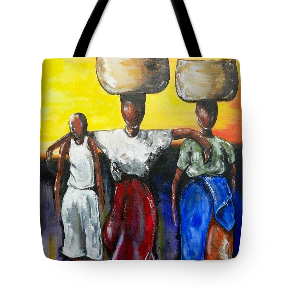 Travel Tote Bag featuring the painting Belize by Artist Ahmed Salam