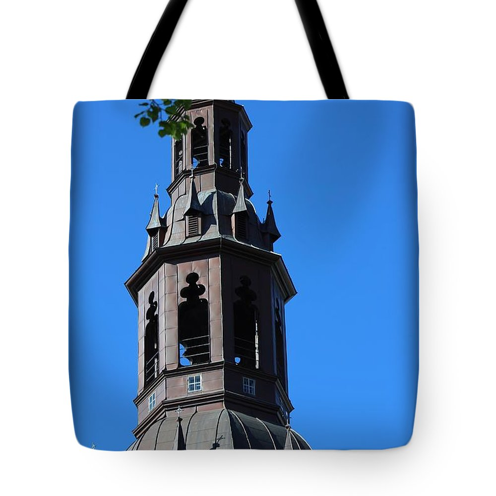 Bell Tower Tote Bag featuring the photograph Bell Tower by Haniet Cordovi