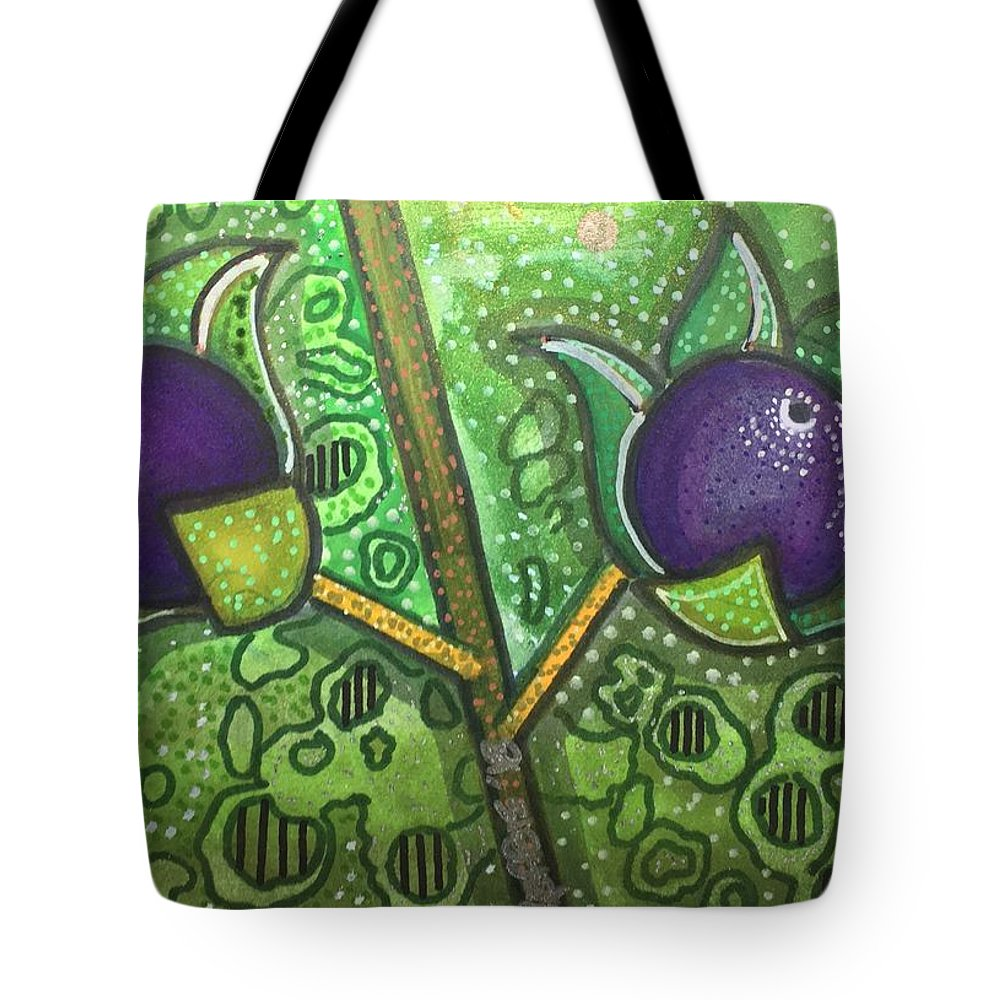 Deadly Nightshade Tote Bag featuring the mixed media Bella Donna by Regina Jeffers