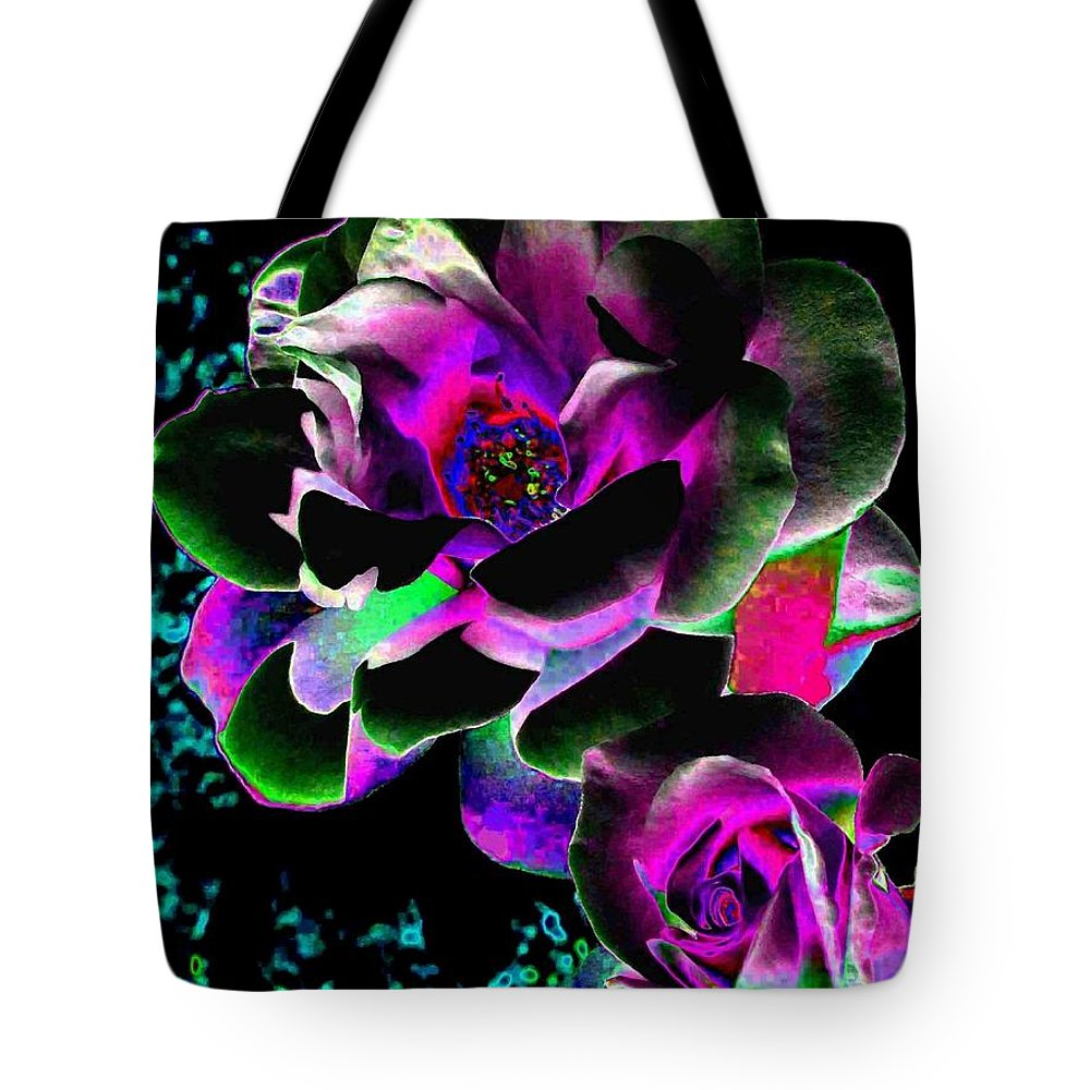 Bella Flora Tote Bag featuring the digital art Bella Flora 8 by Will Borden