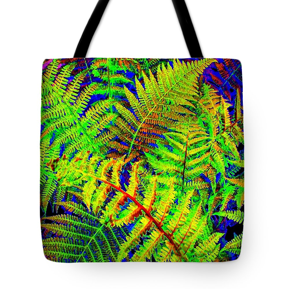 Bella Flora Tote Bag featuring the digital art Bella Flora by Will Borden