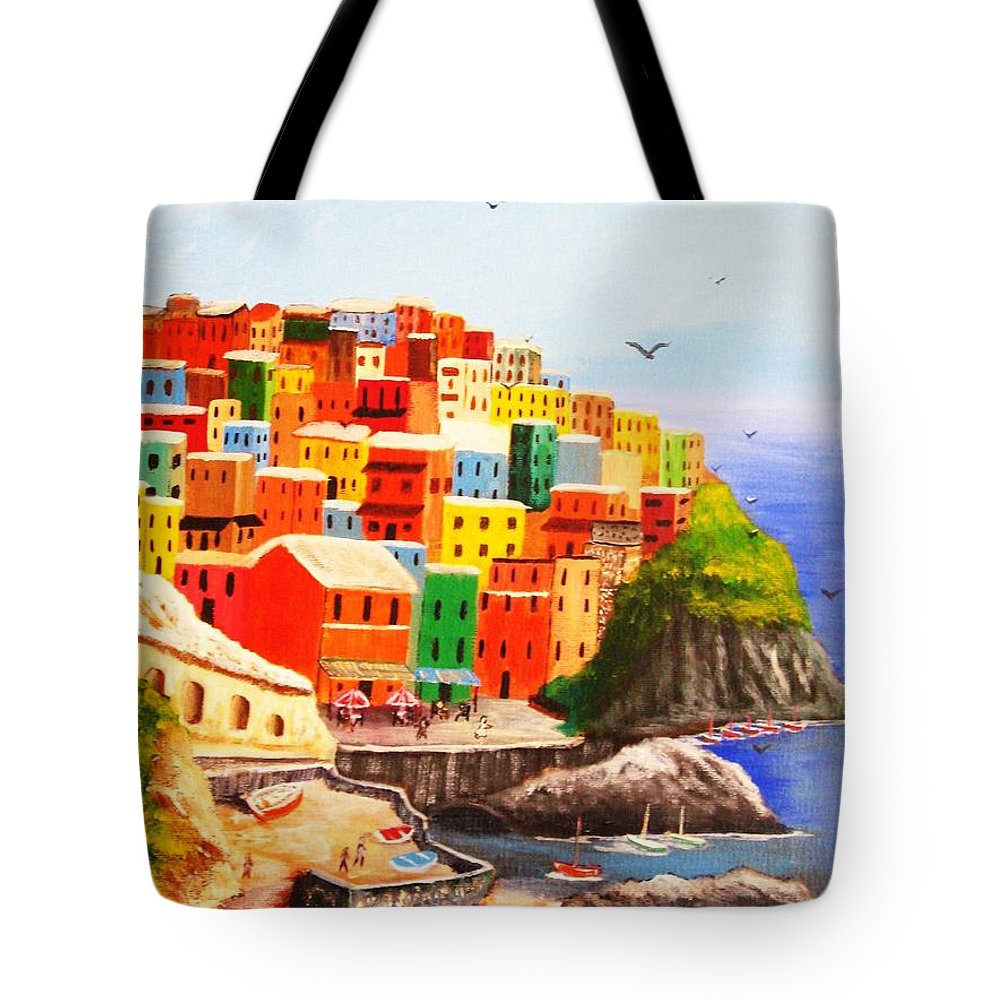 Italy Tote Bag featuring the painting Bella Italia by Rich Fotia