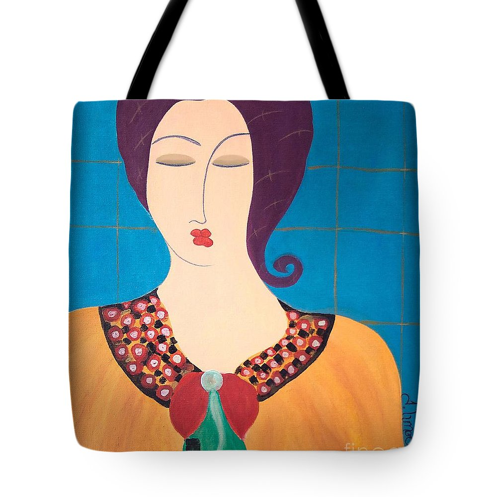 #female #figurative #photography # Fineart #art #images #painting #artist #painter #artlover Tote Bag featuring the painting Bella by Jacquelinemari