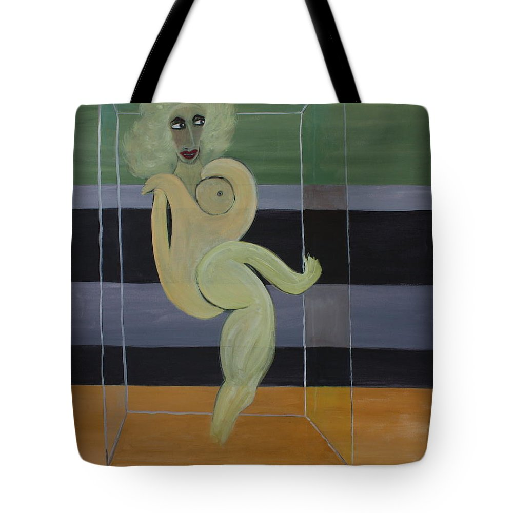 Oil Painting Tote Bag featuring the painting Bella by Roger Cummiskey