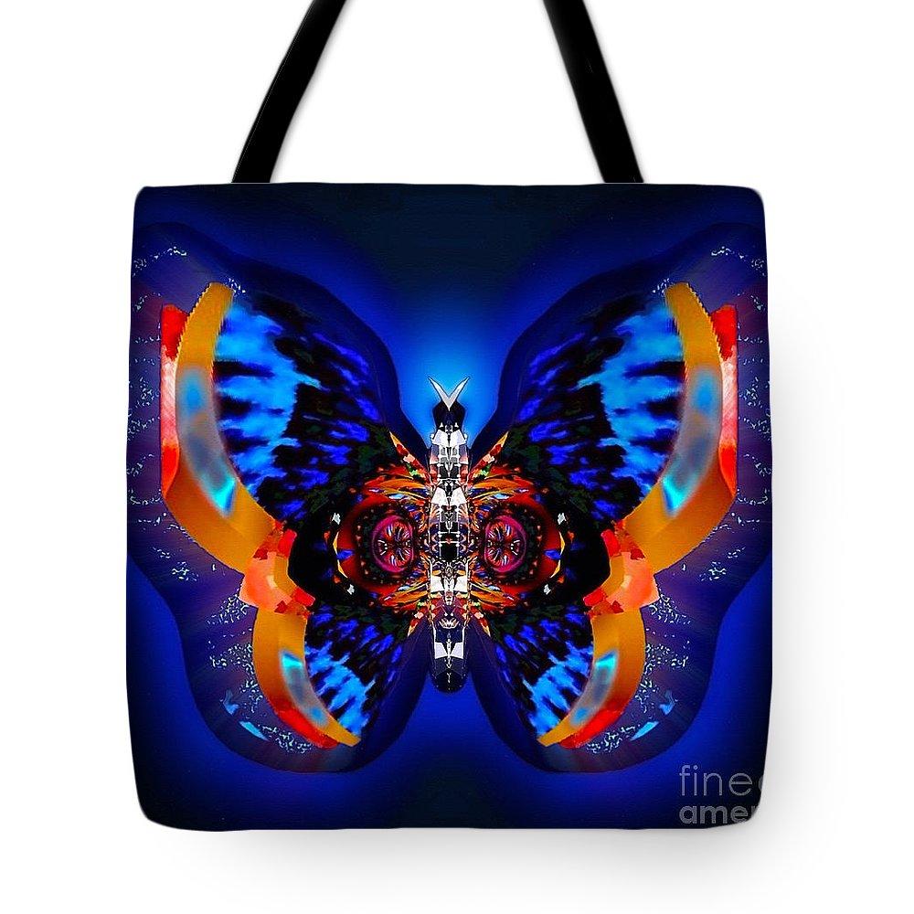 Belladonna Tote Bag featuring the digital art Belladonna Gemdew by Raymel Garcia