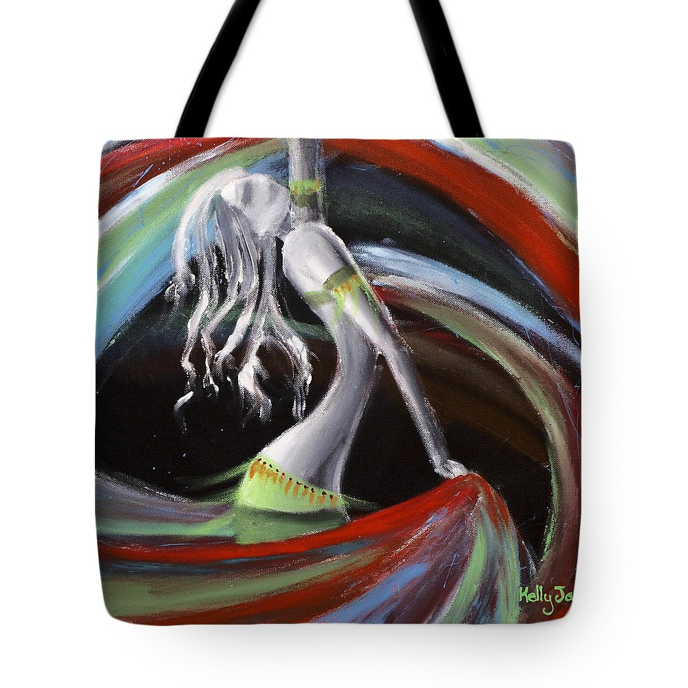 Colourful Tote Bag featuring the painting Belly Dancer by Kelly Jade King