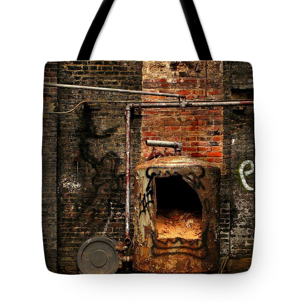 Factory Tote Bag featuring the photograph Belly Of The Beast by J K York