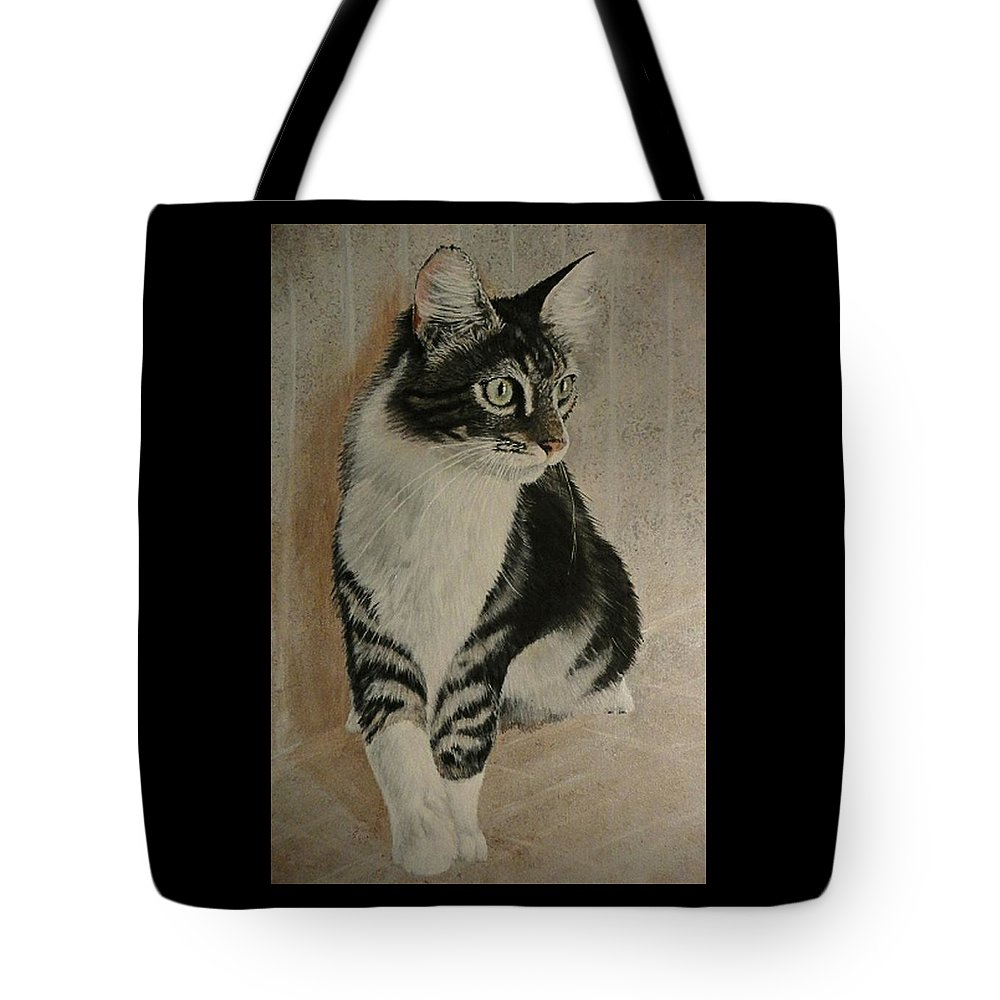 Painting Tote Bag featuring the painting Beloved Friend by Sheryl Gallant