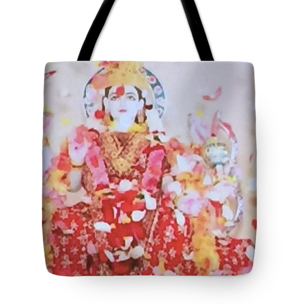 Hindu Godess Lakshimi Tote Bag featuring the painting Beloved Lakshimi by Denise Mc Nellis