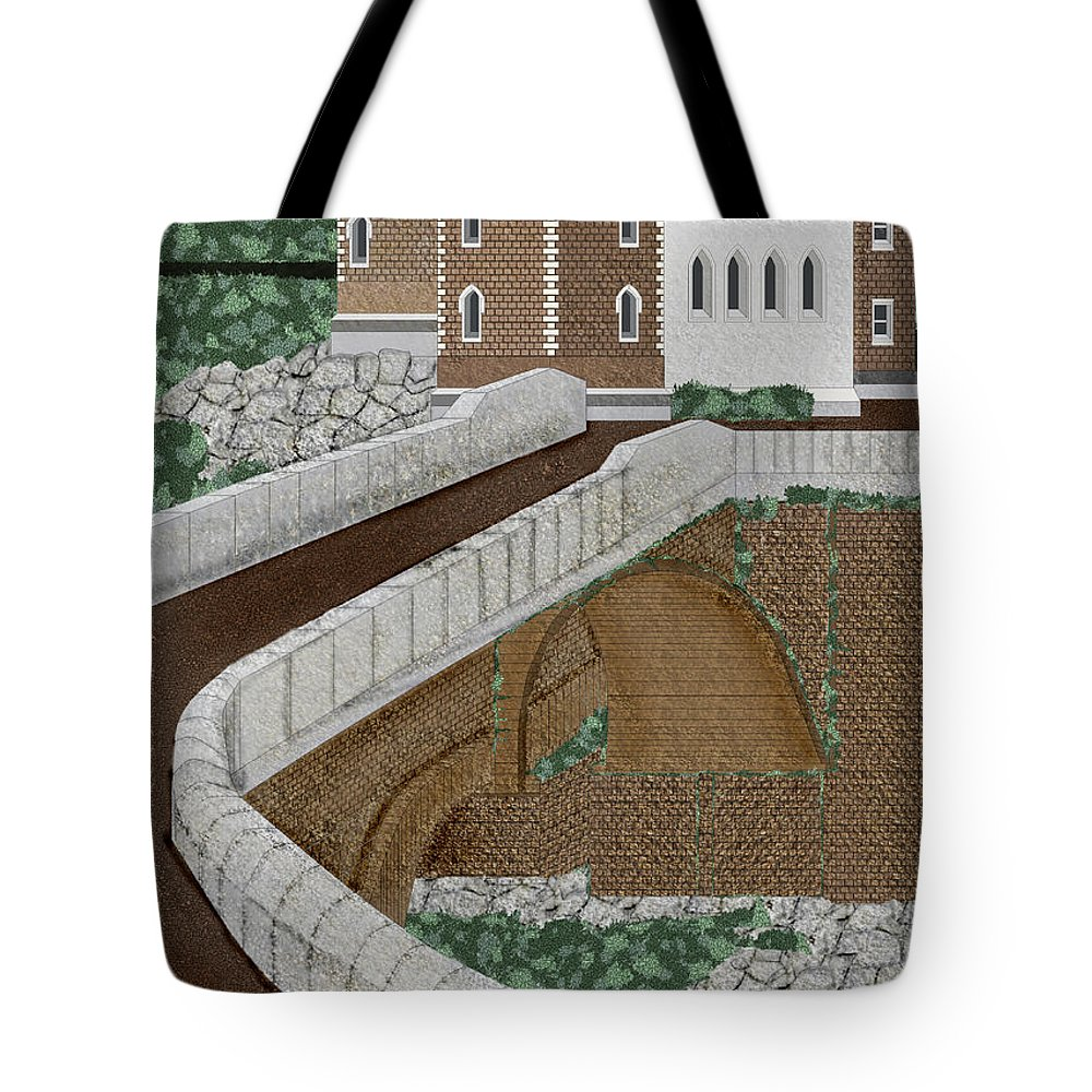 Castle Ruins Tote Bag featuring the painting Beloved Ruins by Anne Norskog