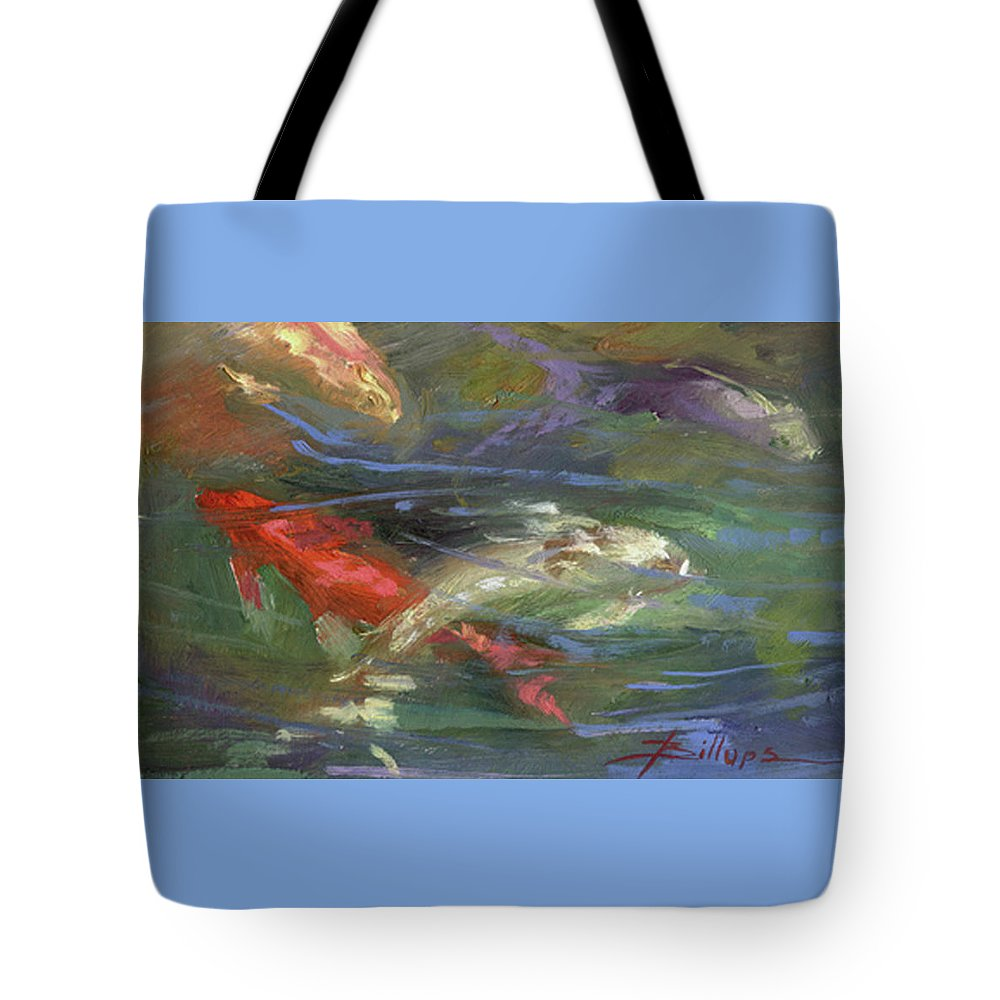 Plein Air Tote Bag featuring the painting Below The Surface by Betty Jean Billups