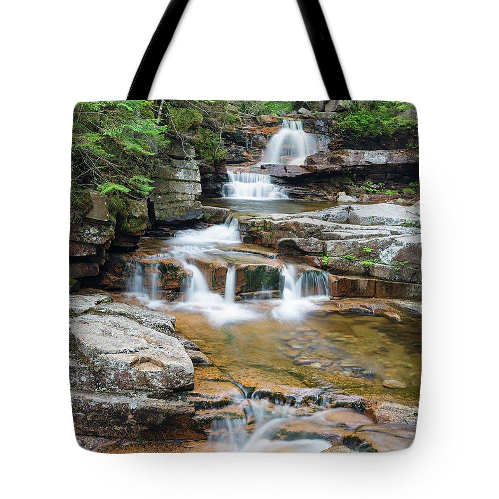 Bemis Brook Tote Bag featuring the photograph Bemis Brook Falls - Harts Location New Hampshire by Erin Paul Donovan