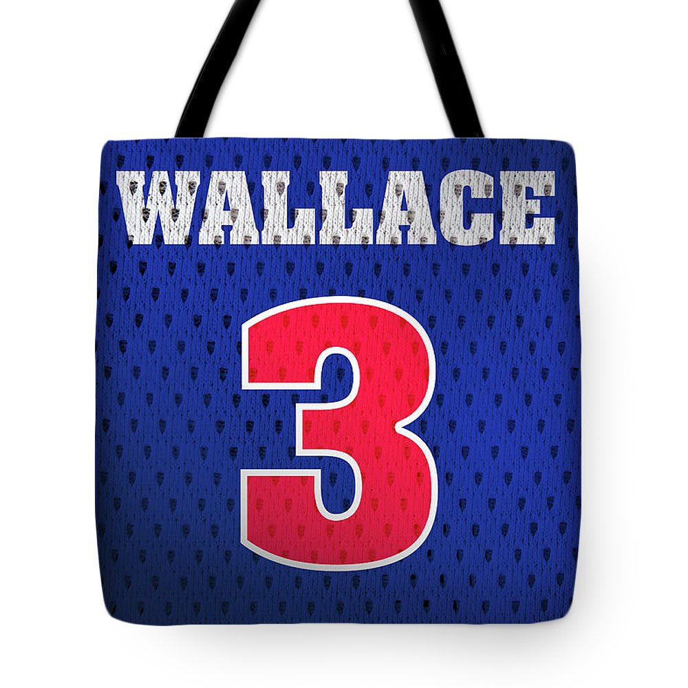 newest 6575f 03ae0 Ben Wallace Detroit Pistons Number 3 Retro Vintage Jersey Closeup Graphic  Design Tote Bag