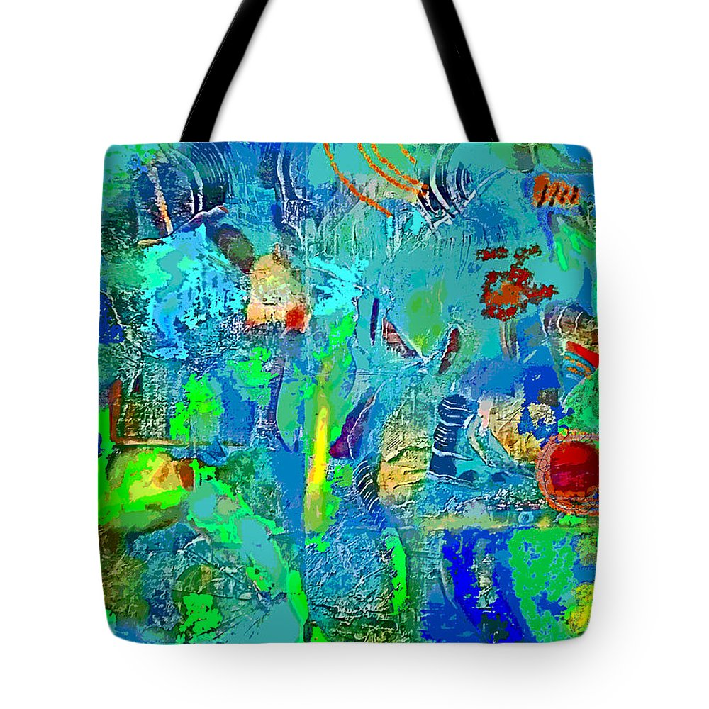 Tote Bag featuring the digital art Beneath The Surface by Randolph Thompson