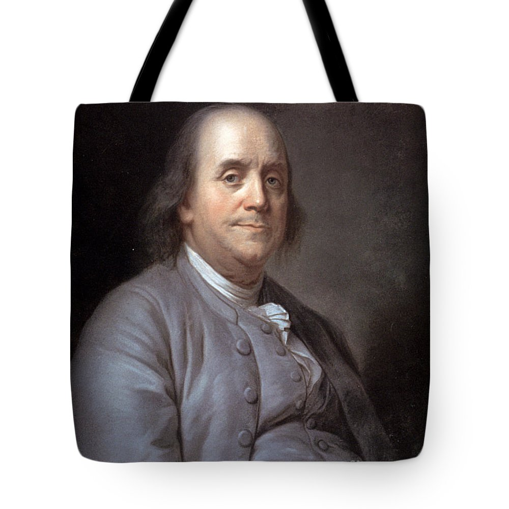 1783 Tote Bag featuring the photograph Benjamin Franklin by Granger