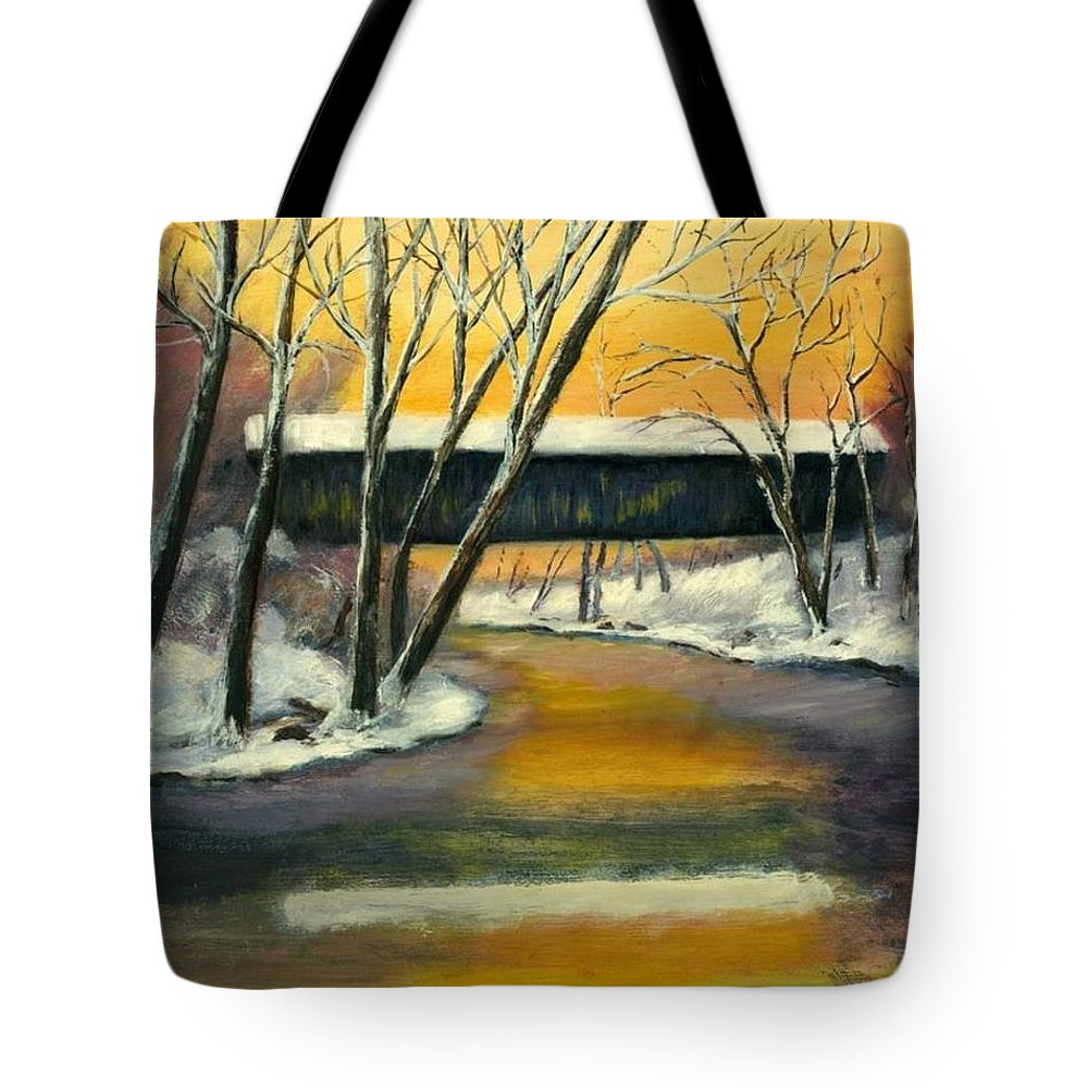 Kentucky Tote Bag featuring the painting Bennett by Gail Kirtz