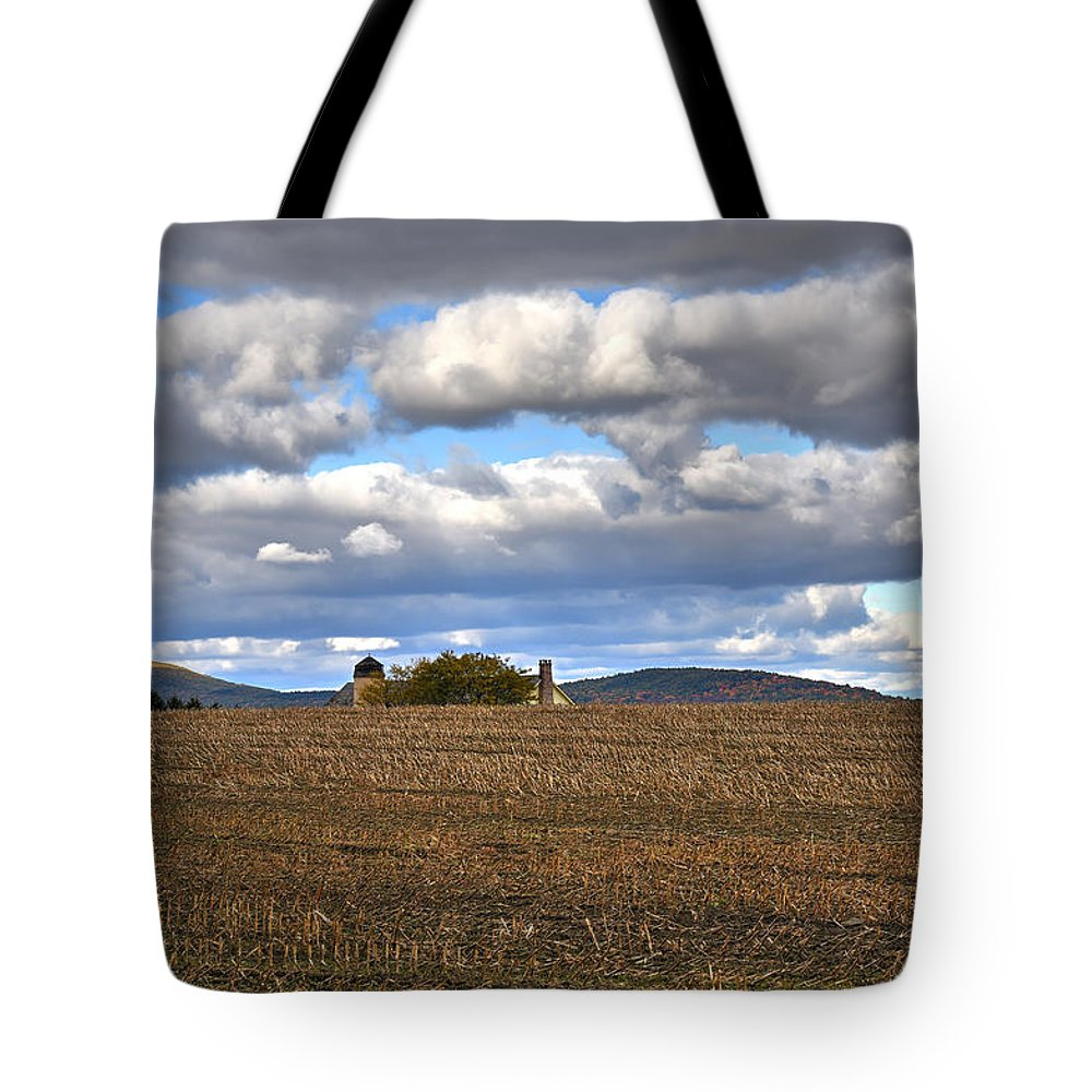 Cornfield Tote Bag featuring the photograph Berkshire Cornfield by Geoffrey Coelho