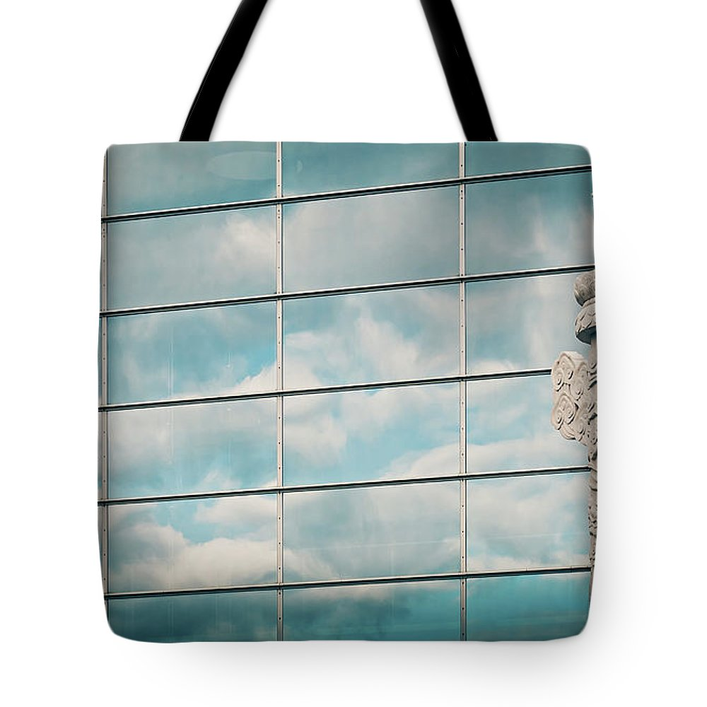 Berlin Tote Bag featuring the photograph Berlin - Chinese Embassy by Alexander Voss