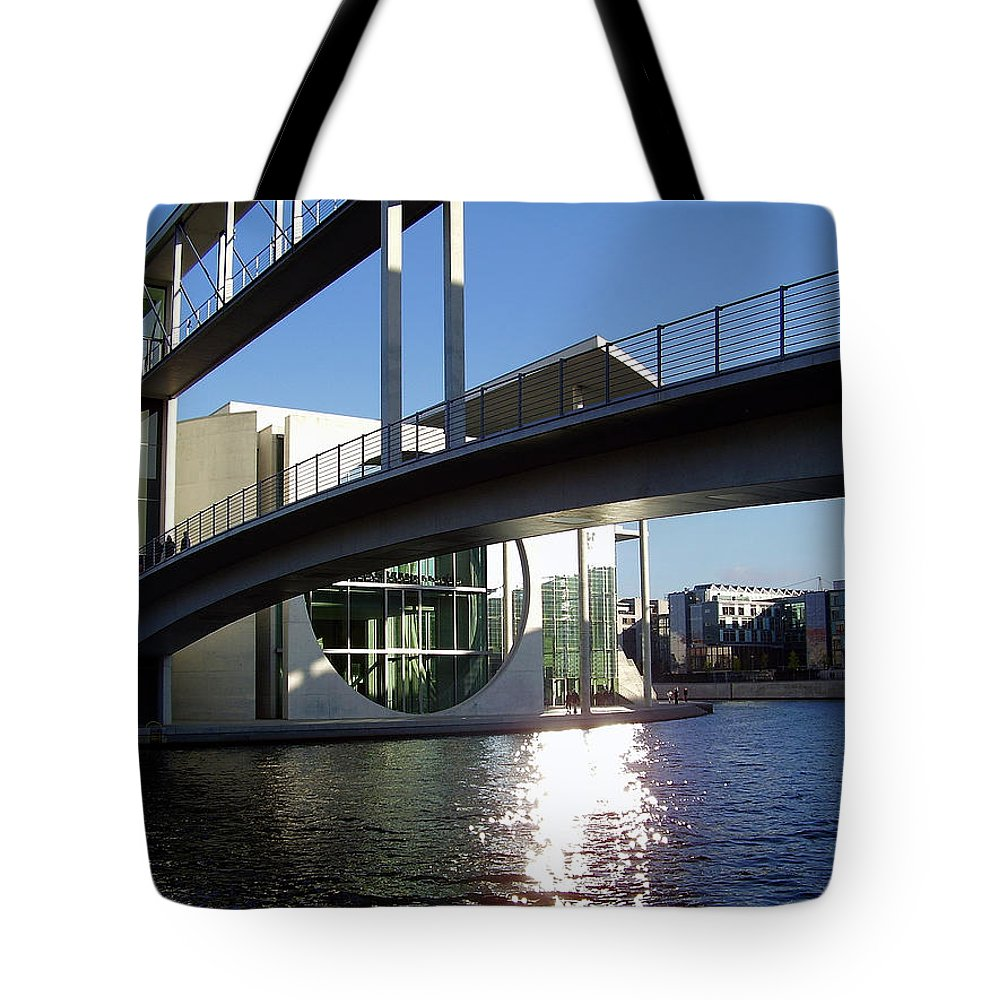 Marie-elisabeth-lueders Tote Bag featuring the photograph Berlin by Flavia Westerwelle