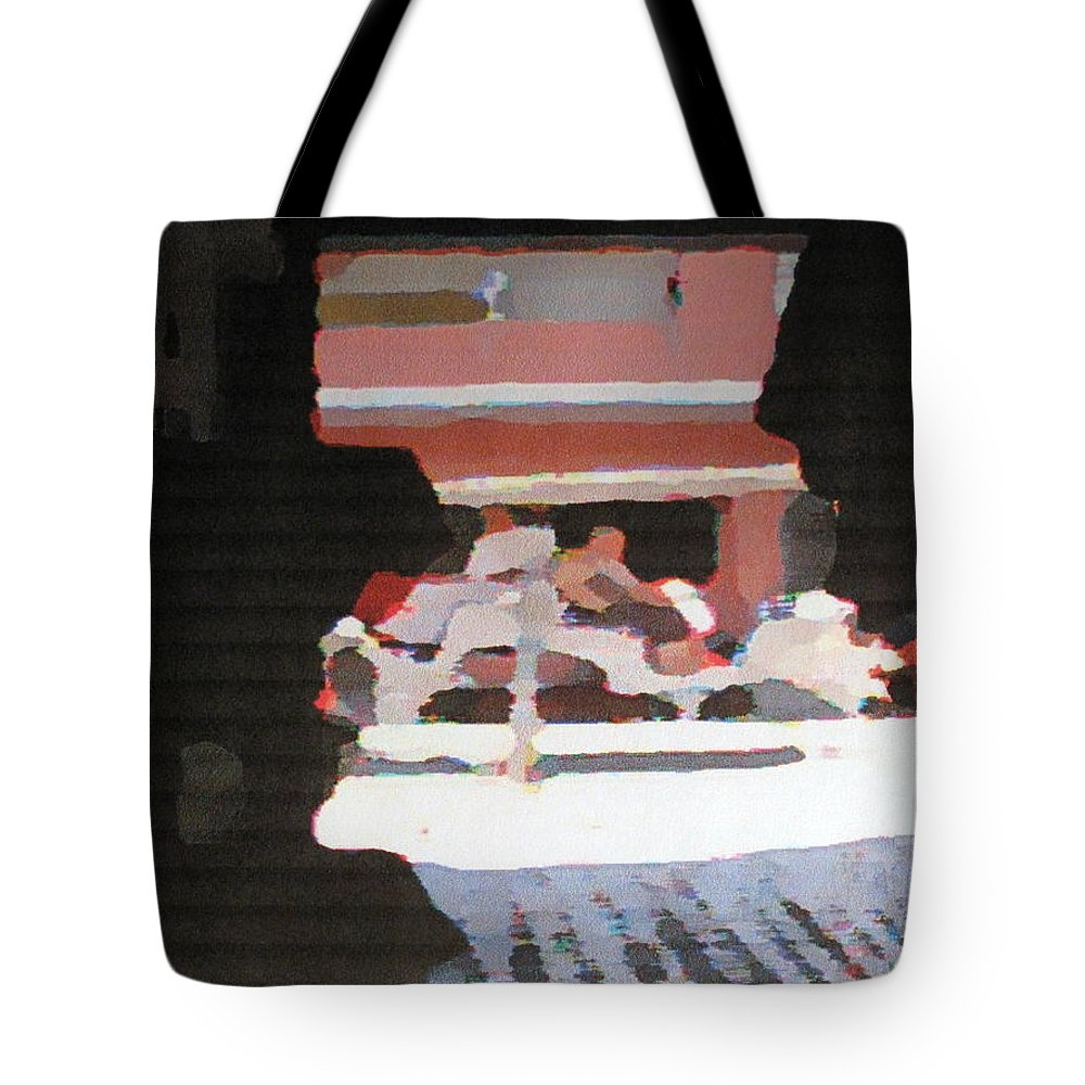 Bermuda Tote Bag featuring the photograph Bermuda Carriage Impressions by Ian MacDonald