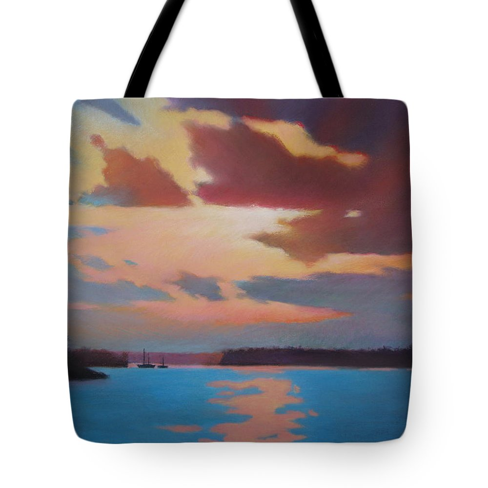 Bermuda Seascape Tote Bag featuring the painting Bermuda Sunset by Dianne Panarelli Miller