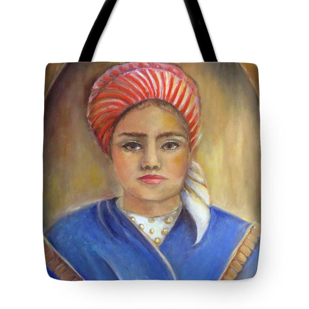 St. Bernadette Soubirous Tote Bag featuring the painting Bernadette Soubirous Of France by Bernadette Krupa