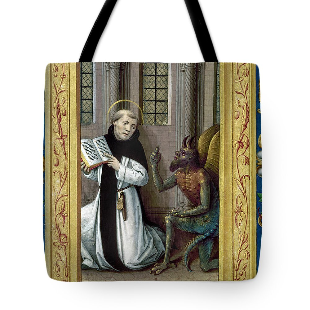 Aod Tote Bag featuring the painting Bernard De Clairvaux by Granger