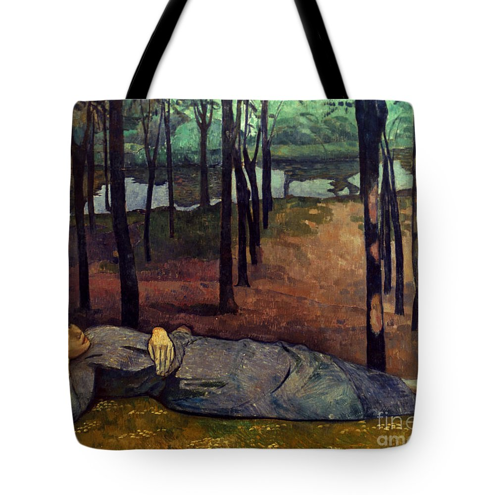 1888 Tote Bag featuring the photograph Bernard: Madeleine, 1888 by Granger
