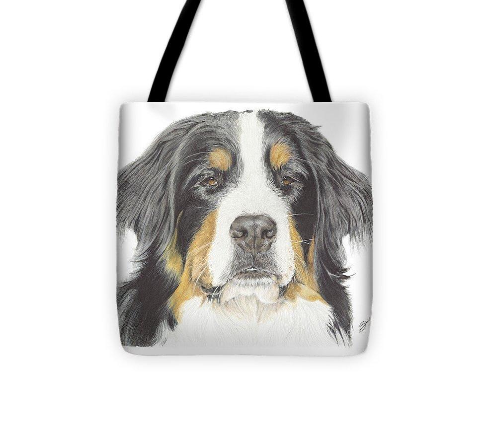 Bernese Mountain Dog Drawing Tote Bag