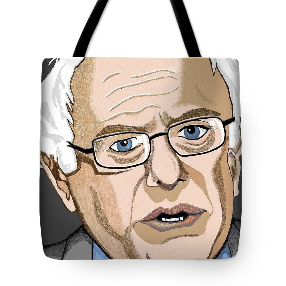 Bernie Tote Bag featuring the painting Bernie by Richard Heyman