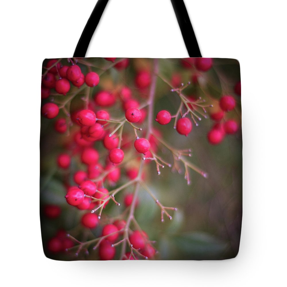 Red Berries Tote Bag featuring the photograph Berries by Martina Schneeberg-Chrisien