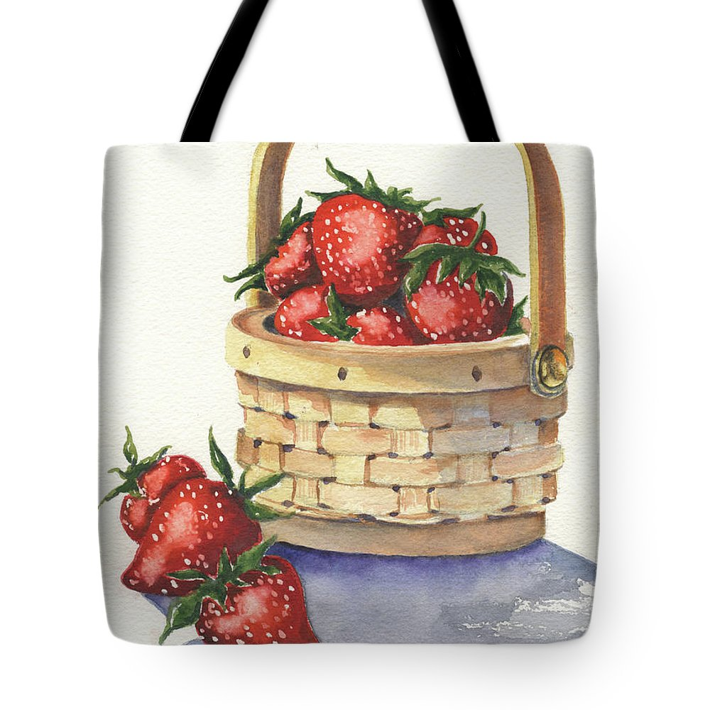 Berry Tote Bag featuring the painting Berry Nice by Marsha Elliott